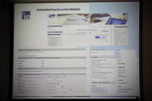 IE Library web site #ieebslg2014