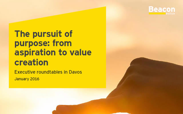 EY pursuit of purpose davos executive roundtables