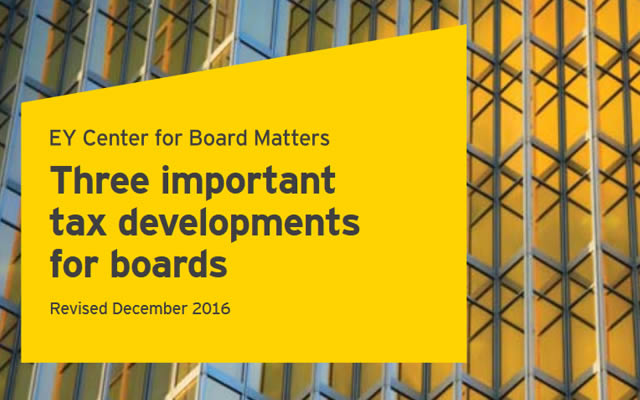 Three important tax developments for boards